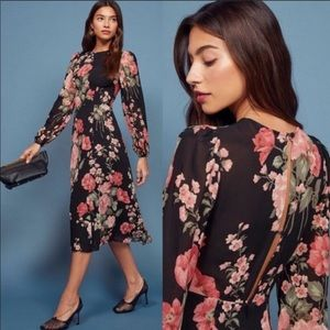 Reformation midi dress. Luanne in Louise Floral.